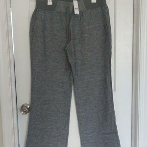 Wide leg linen trouser pants
